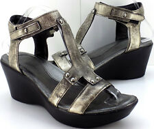 Naot Flirt Distressed Pewter Leather Ankle Wrap Sandals Women's 41 US Size 10M