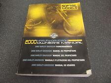 2000 Harley-Davidson Owner's Manual ~~ Softail Models ~~ P/B