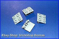 Lego 4 x Scharniere Oberteile grau - 6134 - Hinge Light Bluish Gray - NEU / NEW