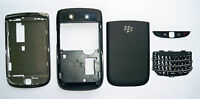 Full Black Fascia faceplate facia case housing cover for Blackberry Torch 9800