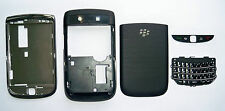 Full Black Fascia faceplate facia case housing cover for Blackberry Torch 9800
