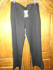 WHITE HOUSE BLACK MARKET WOMEN'S BLACK PANTS WITH STUDS SIZE 12 NEW WITH TAGS