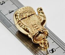 9CT YELLOW GOLD & SILVER SOLID OPENING BOXING GLOVE MEN'S PENDANT
