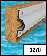 "10 ft dock bumpers 3270 ""C""white shape edge for piers,floating dock ending,boat"