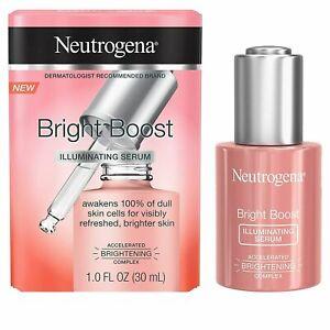 Neutrogena Bright Boost Illuminating Face Serum 1.0 oz - New - Free Shipping