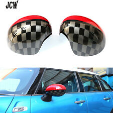 Pair Side Mirror Covers Caps Cover JCW Design Fit For MINI Cooper 2014 F56 F57