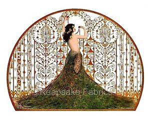 Exotic Nouveau Peacock Lady Crazy Quilt Block Multi Szs FrEE ShiPPinG WoRld WiDE