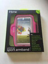 iHome IH-35130P Universal Sport Armband for iPhone 4,5,6 Samsung Galaxy S3,S4,S5