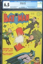 BATMAN #18 - CGC-6.5, WP- Classic Hirohito, Hitler and Mussolini explosion cover