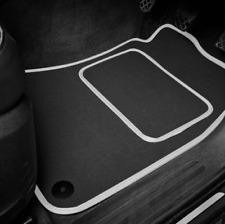 Quality Car Floor Mats Set In Black/Silver - Mercedes-Benz A-Class (2004-2012)