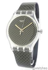 New Swatch Archi-Mix Gridlight Black/Gold Women Watch 42mm SUOK119 $75