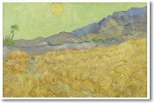 Vincent Van Gogh Wheat Field with Reaper - September 1889 - NEW Fine Arts POSTER