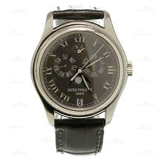 2000s PATEK PHILIPPE Swiss Automatic Leather Platinum Watch