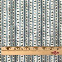 1.4 Yds Waverly Fabric Cotton Chintz Sturbridge Village Sewing Floral Stripe