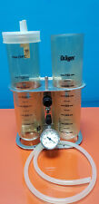 Dräger Absaugpumpe medizinische Pumpe mit 1 Sekretbehältern und Manometer