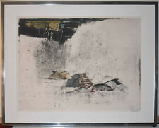 Listed Artist Johnny Friedlander Signed Large  Abstract Etching & Aquatint, Rare