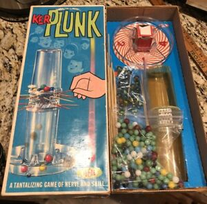 "Vintage 1967 ""Ker Plunk"" Ideal Toys Marble Game Nice! Extra Marbles Included."