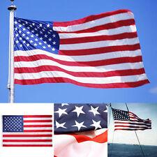 "US Flagge 3x5"" Nylon USA Flag Gedruckt Streifen Gestickt Stars Messing Grommets"