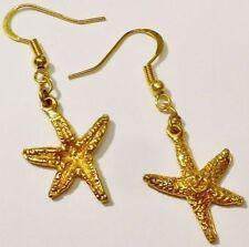 boucles d'oreilles percées couleur or étoile de mer bijou style vintage /R