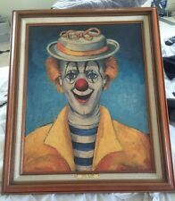 Red Skelton Lithograph - Girl Clown Signed. Red Skelton Clowns