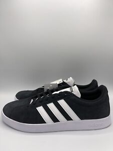 Adidas Originals VL Court 2.0 Men Skateboarding Sneaker Shoes Suede Black White