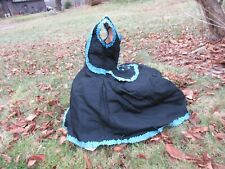 Victorian Little Person Ladies bustle back silk dress with train
