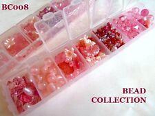 Pretty Grano De Colección En Caja De Almacenaje-Rosa cuentas......................... Bc008