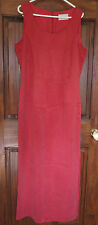 Lined Long Red Dress, Size 12