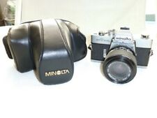 Minolta SRT 303b Spiegelreflexkamera mit Objektiv Soligor 35 - 70 mm Zoom Macro