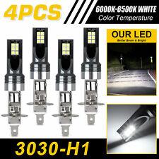 New listing 4Pcs H1 Led Headlight Conversion 100W 30000Lm Hi&Lo Beams Bulbs Fog Lights 6000K