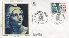 FRANCE FDC - 2933 1 JOURNEE DU TIMBRE - PARIS 4 Mars 1995 - LUXE sur soie