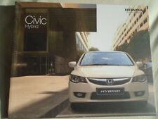 Honda Civic Hybrid range brochure Oct 2008