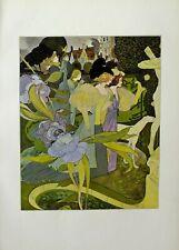 1898 Studio imprimer les jardins d'armide de l'aquarelle par Georges de Feure