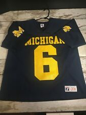 Vintage Michigan Wolverines Football Jersey L logo 7 Tyrone Wheatley Dave  Brown 6c0c0b5b0