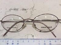 Giorgio Armani GA25 50-1 occhiale nuovo vintage anni 90' metallo colore oro rosa