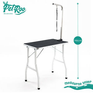 78cm Dog Cat Pet Grooming Table Height Adjustable Portable Anti Slip Vinyl Mat