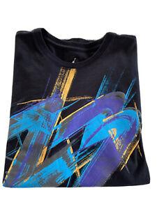 Air Jordan Jumpman Short Sleeve Mens T-Shirt Black w Abstract Graphics Size XL