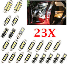23 PCS/set LED White Car Inside Light Dome Trunk Mirror License Plate Lamp 6000K