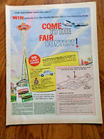 1962 Palmolive Soap Contest Ad Trip to Washington State Seattle World's Fair