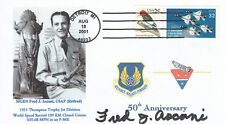 Fred ASCANI Signed Autograph First Day Cover FDC COA AFTAL USAF Test Pilot