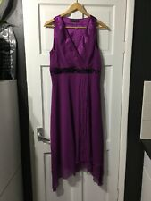 Stunning purple beaded dress from TEATRO size 12 new with tags