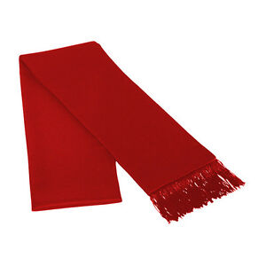 Red Satin Formal Tuxedo Scarf