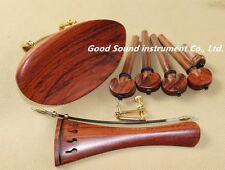 2set New Rosewood 4/4 violin accessories  chinrest endpin tuner tail gut