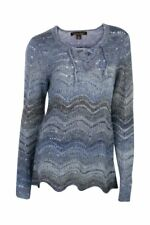Noble Outfitters 27009-742 Womens Denver Pointelle Pullover Large