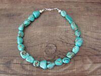 Navajo Indian Hand Strung Blue Turquoise Bracelet - Jake