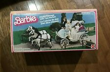 Barbie Doll Dream Carriage with Two Horses Mattel Canada With Box RARE 1984