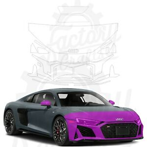 Paint Protection Film Clear PPF for Audi R8 Coupe 2020-2021 Half Front