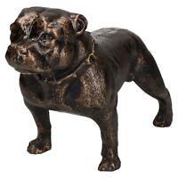 Pit Bull Terrier Dog Cast Iron Statue Figure Trophy Ornament Sculpture Staffy