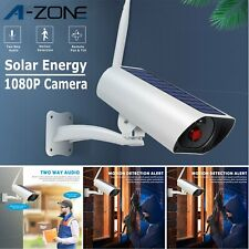 1080P Wireless Solar Power Ip Camera Home Security Cctv Surveillance 2 Way Audio