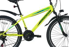 """KRON Cross 3.0 24"""" Zoll Mountainbike Jugendrad Hardtail Fahrrad 21 Gang Neongelb"""